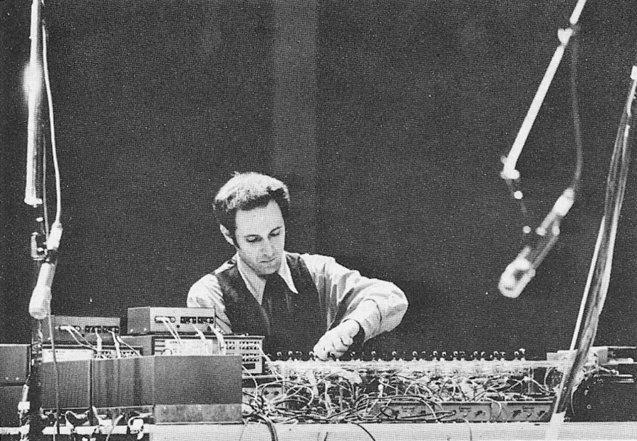 Steve Reich performs at the Whitney Museum in 1969.